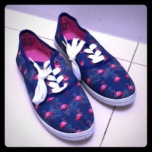 Pink Flamingo Tennis Casual Shoes